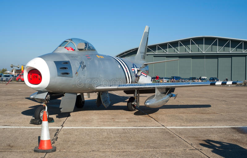 Download F-86 Sabre On The Flight Lane Editorial Stock Photo - Image: 16681403