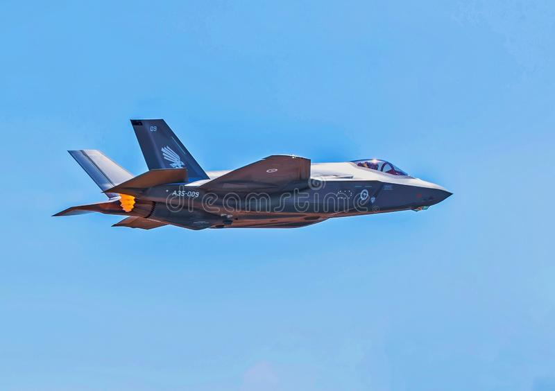 F-35A联接罢工战斗机 免版税库存图片