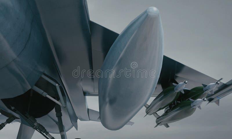 F 16, aereo di combattimento militare americano Base militare fotografia stock