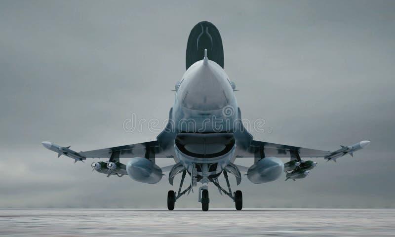 F 16, amerykański militarny samolot szturmowy Militarna baza obraz stock