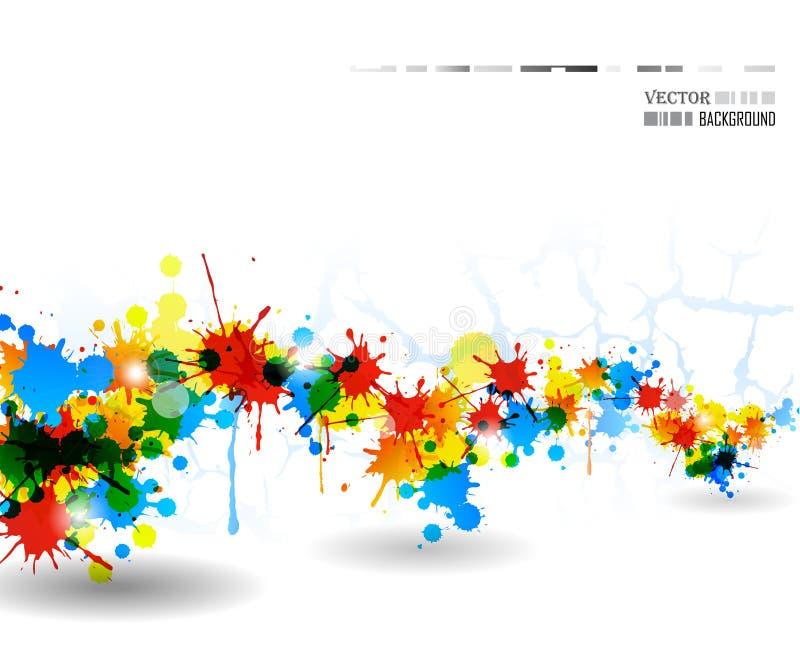 färgaffischfärgstänk royaltyfri bild