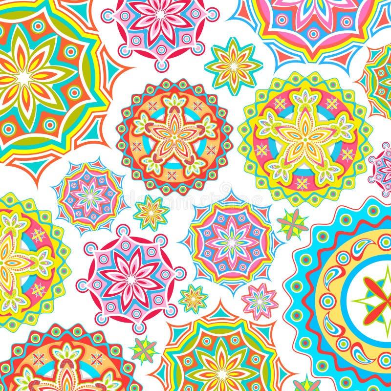 färgrik blom- modell stock illustrationer