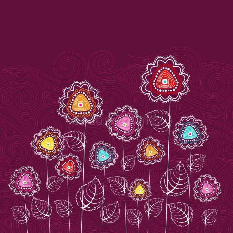 färgrik blomma stock illustrationer