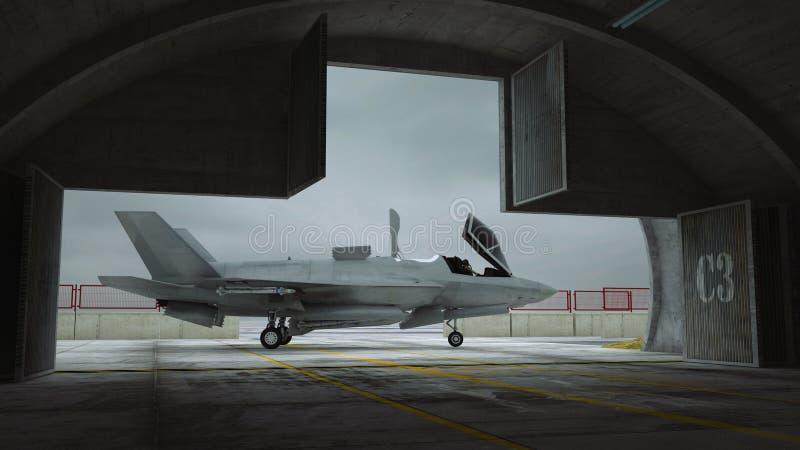 F 35, avião de combate militar americano ilustração royalty free