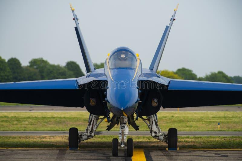 F-18 blauwe Engelen royalty-vrije stock foto's