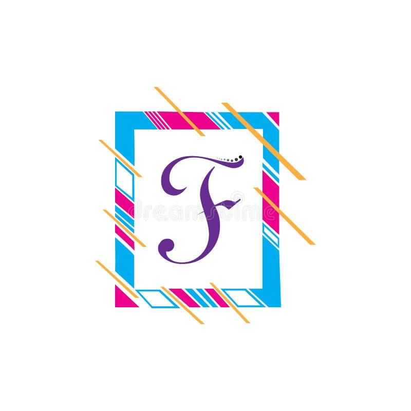 F Brieven vectorpictogram royalty-vrije illustratie