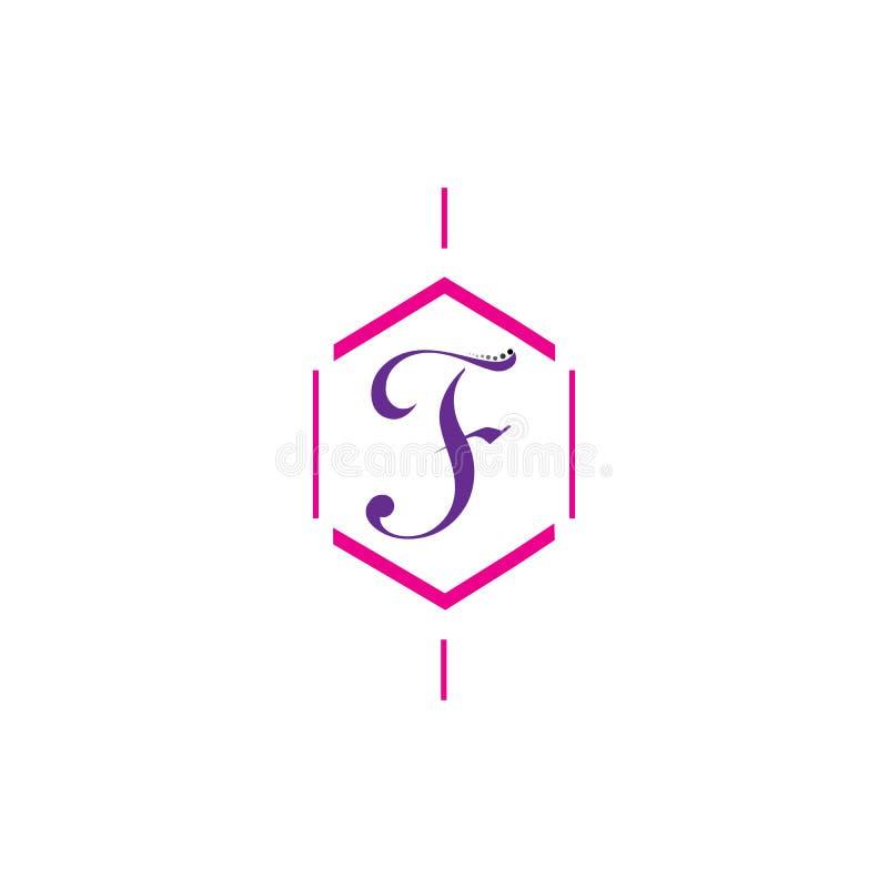 F Brieven vectorpictogram stock illustratie