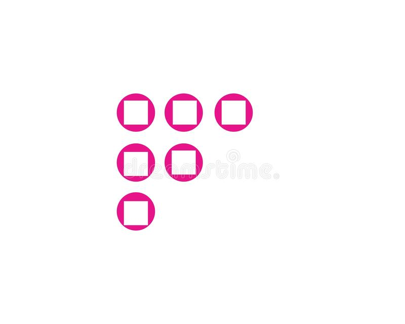 F-Buchstabe-Ikone stock abbildung
