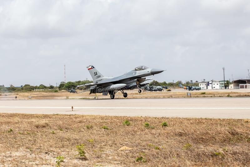 F-16C av U.S.A.F.et royaltyfria foton