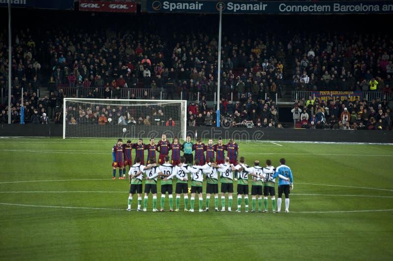 F.C Barcelona imagens de stock