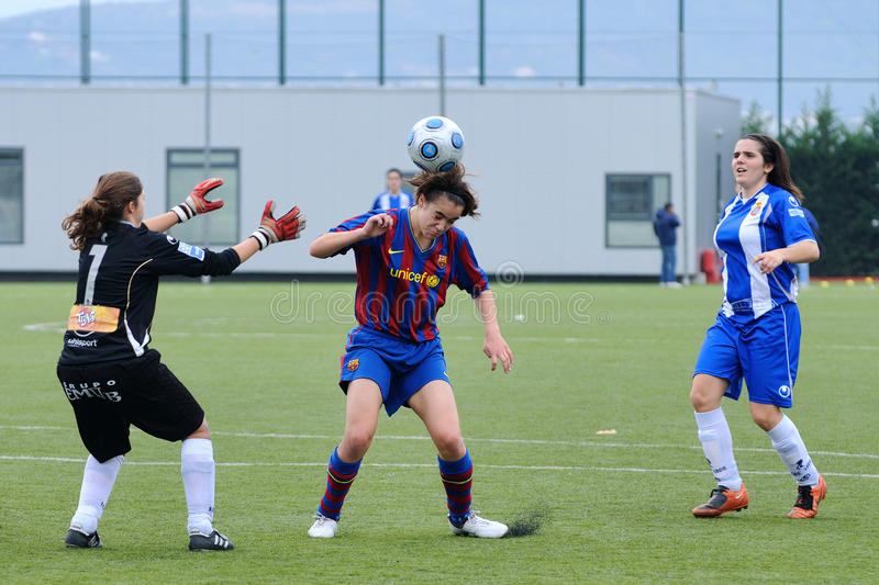 F.C Barcelona Women's Football Team Play Against Gimnastic ...