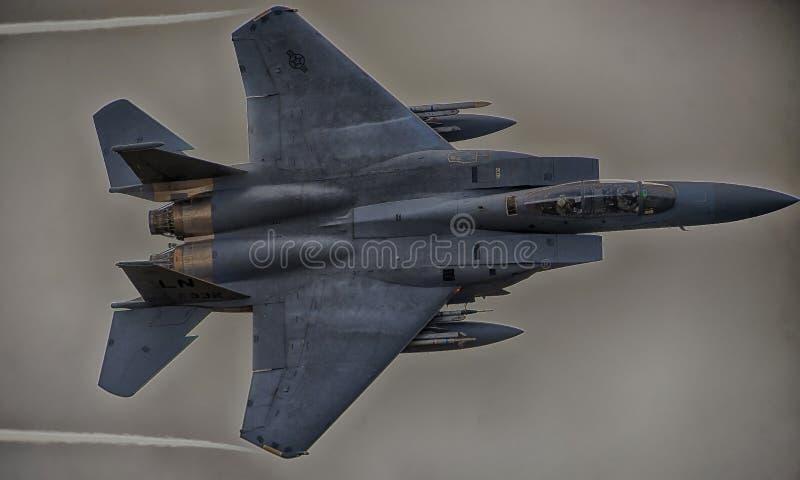 F15-C, dalla squadriglia di caccia 493d fotografia stock libera da diritti