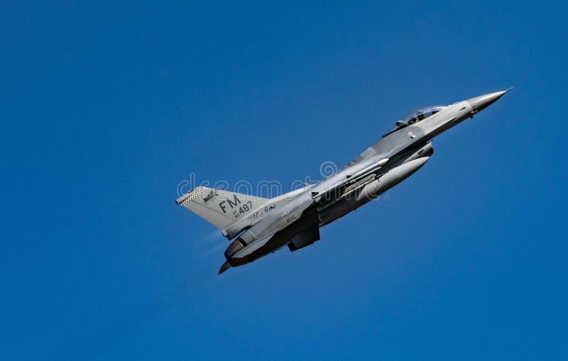 F-16C Walczący jastrząbek obrazy royalty free