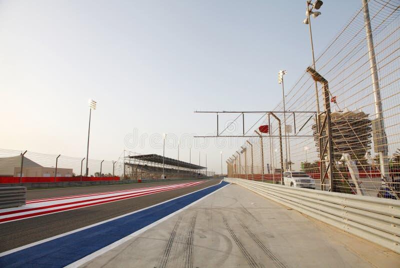 F1 circuit international Bahrain photo libre de droits