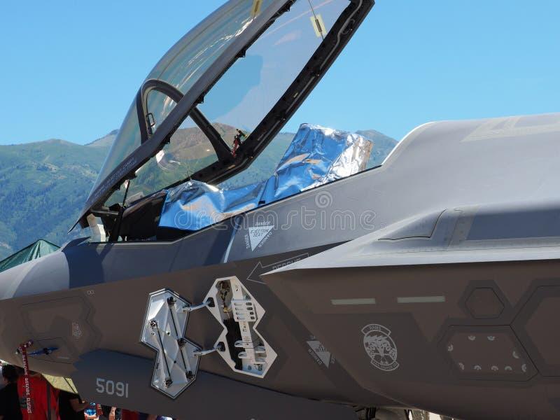 F-35 cockpit en luifel stock afbeelding