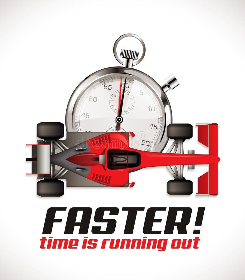 F1 - Concorrenza di Formula 1 - vettura da corsa come tempo di esercizio royalty illustrazione gratis