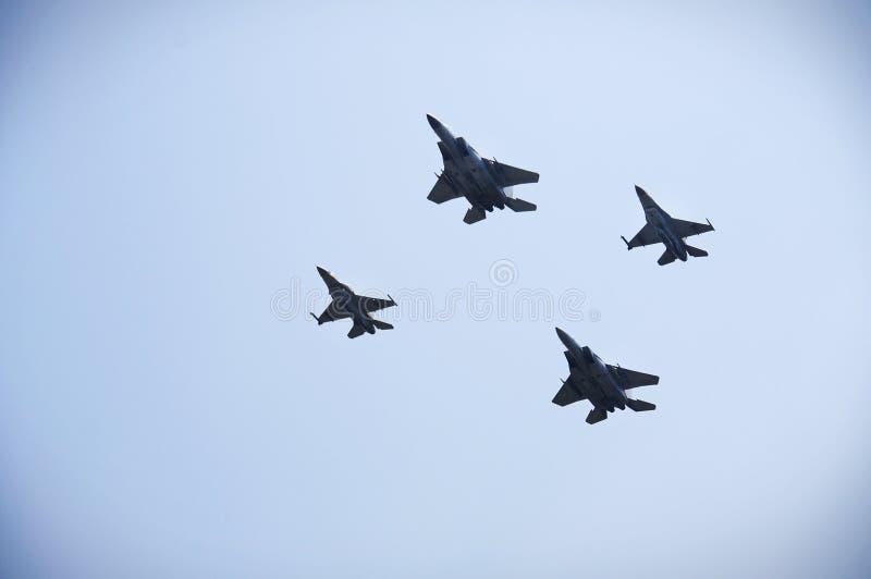 F-16 de quatro EUA fotos de stock royalty free