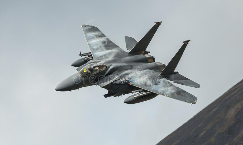 F15 de vechters straalvliegtuigen van Stakingseagle stock foto