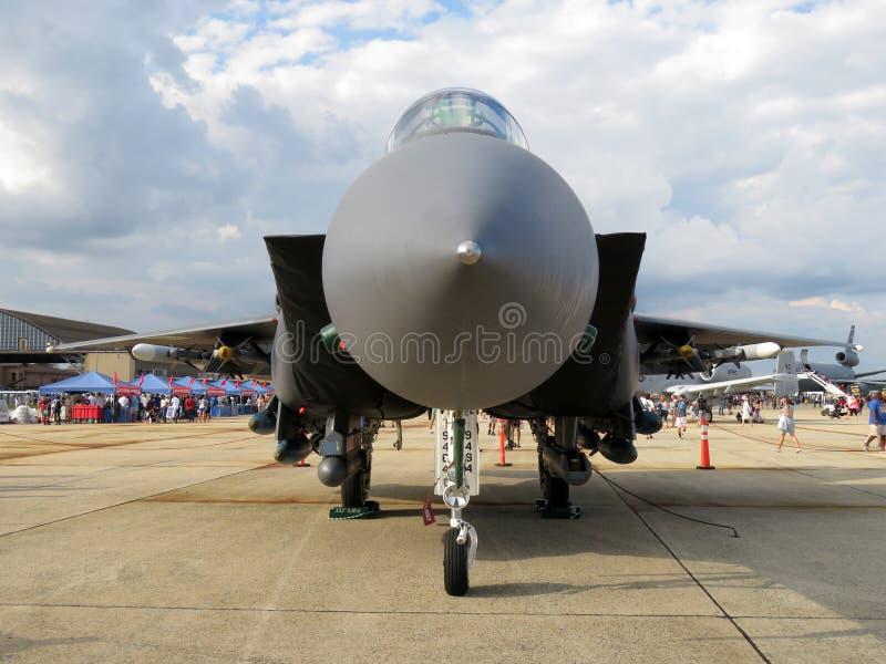 F15 Eagle Lotniczej lepszości myśliwiec odrzutowy zdjęcia royalty free