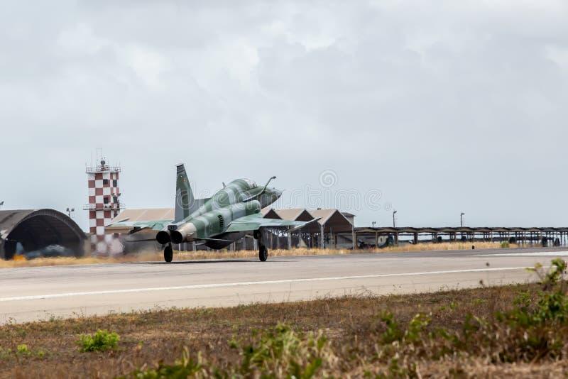 F-5EM TIJGER II van FAB in Verrichting Cruzex stock afbeeldingen