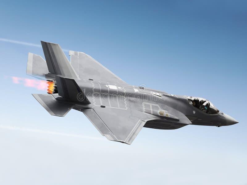 F-35 en blixt royaltyfri bild
