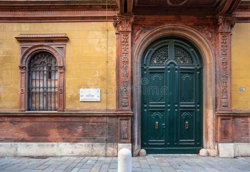 F Ettore Bugatti paleis in Ferrara stad stock foto's