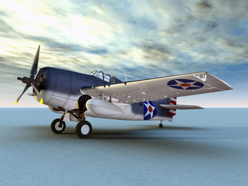 Download F4F Wildcat stock illustration. Image of bomber, america - 31820856