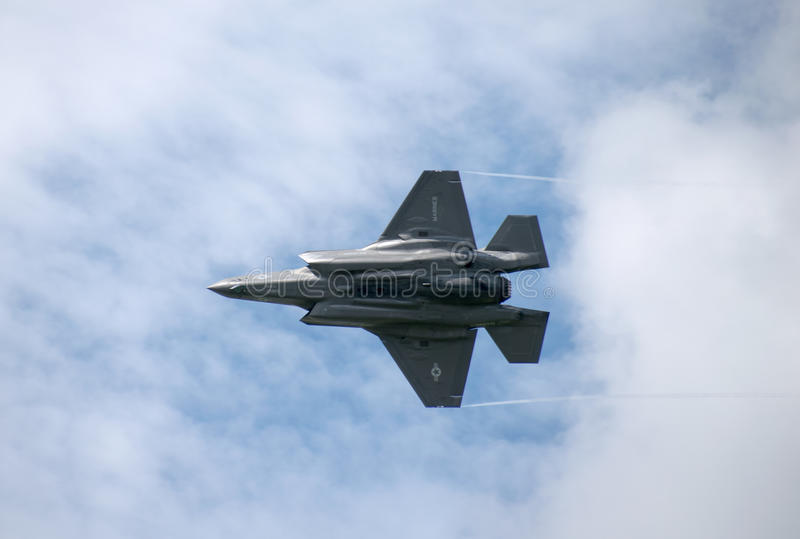 F35 in Farnborough Airshow 2016 stock fotografie