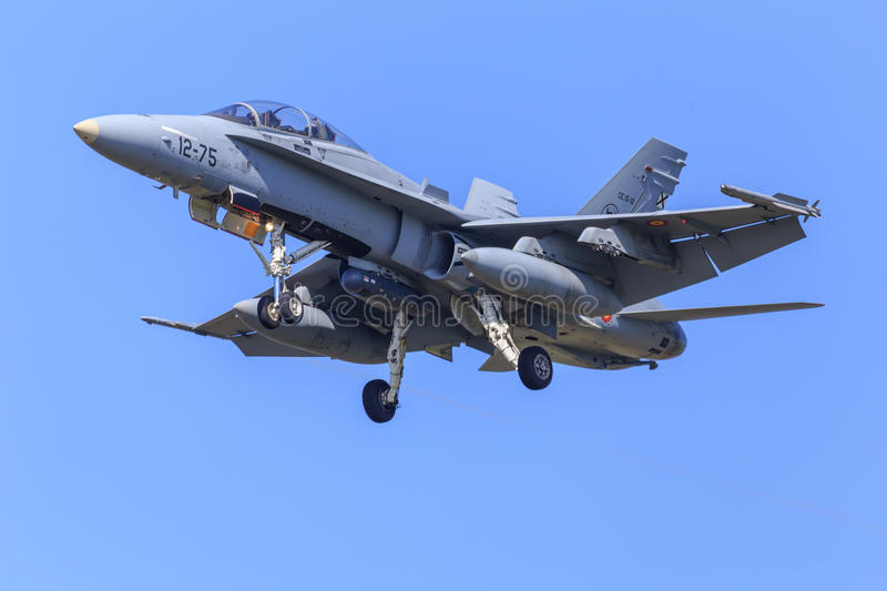 F18 fighter jet royalty free stock images