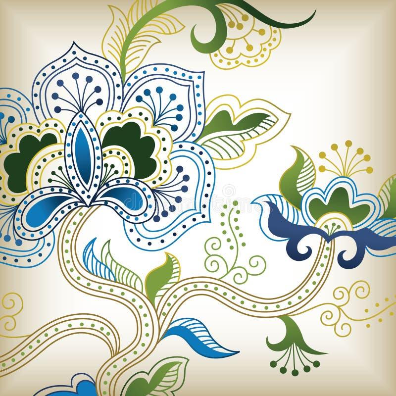 F floral abstracta ilustración del vector