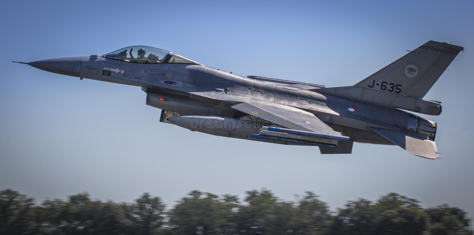 F16 formation flight past royalty free stock photography