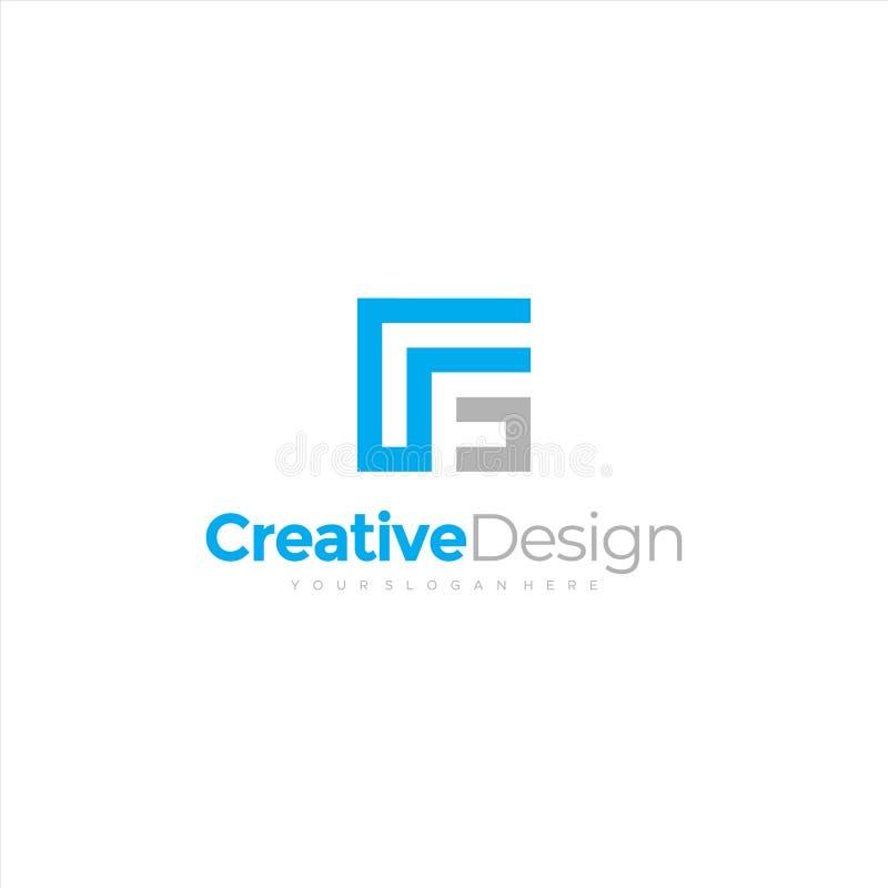 F G FG Initial Handschrift Logo Design mit Kreis Schönes Design handgeschriebenes Logo für Mode, Team, Hochzeit, Luxus-Logo vektor abbildung