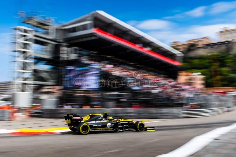 F1, 2019, GP de Mônaco, FP2 fotos de stock royalty free