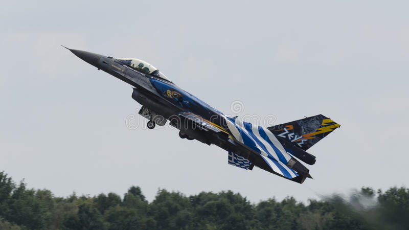 "F-16 grec "" ; Zeus"" ; photo stock"