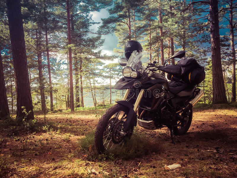 F800gs at Finnish archipelago royalty free stock image