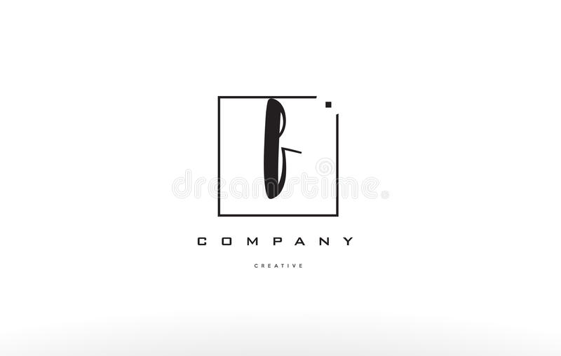 Download F Hand Writing Letter Company Logo Icon Design Stock Vector