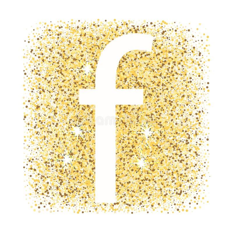 F i den guld- bokstavssymbolen som isoleras på vit bakgrund stock illustrationer