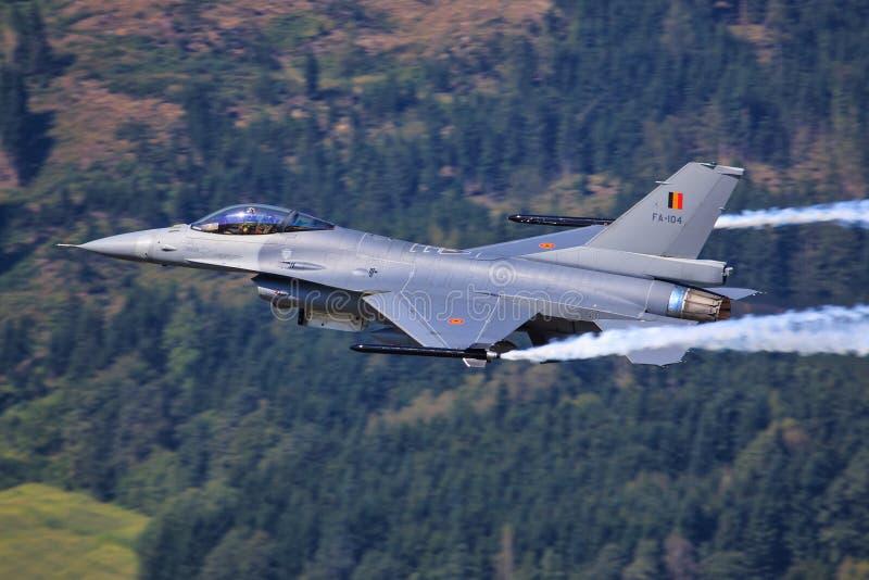 F-16 jastrząbek fotografia royalty free