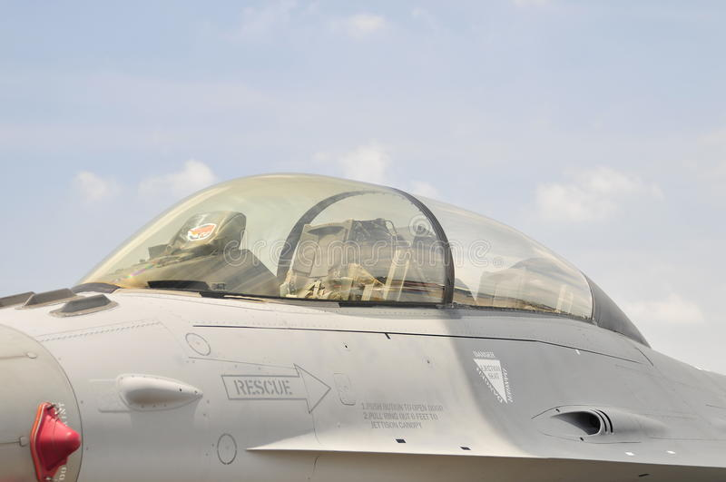 F16 jet fighter. royalty free stock photo