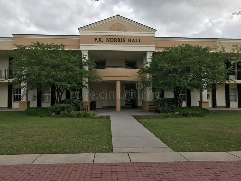 f K Norris Hall em Charleston Southern University, South Carolina fotografia de stock