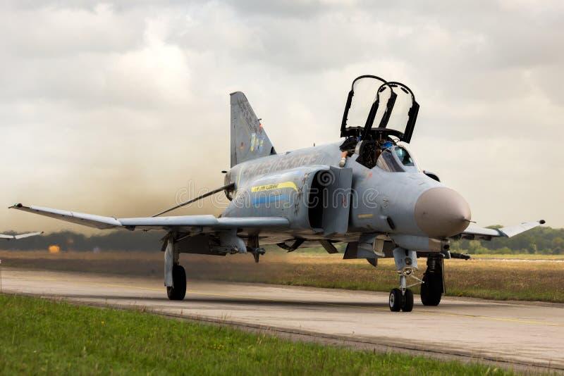 F-4 Kampfflugzeugfläche des Phantoms II lizenzfreie stockfotografie