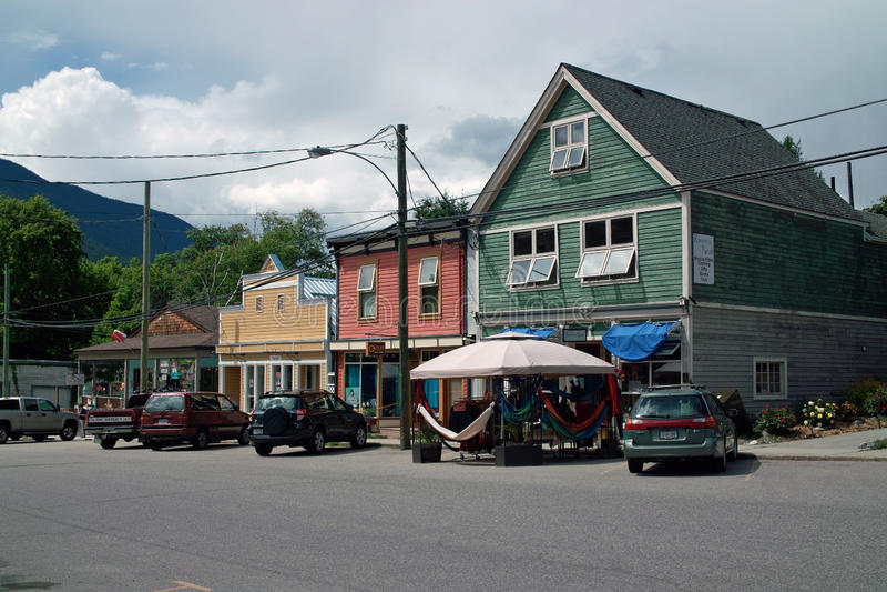 F. KR. huvudväg #6, B.C. Canada royaltyfria foton