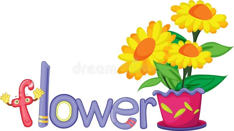 f kwiat ilustracja wektor