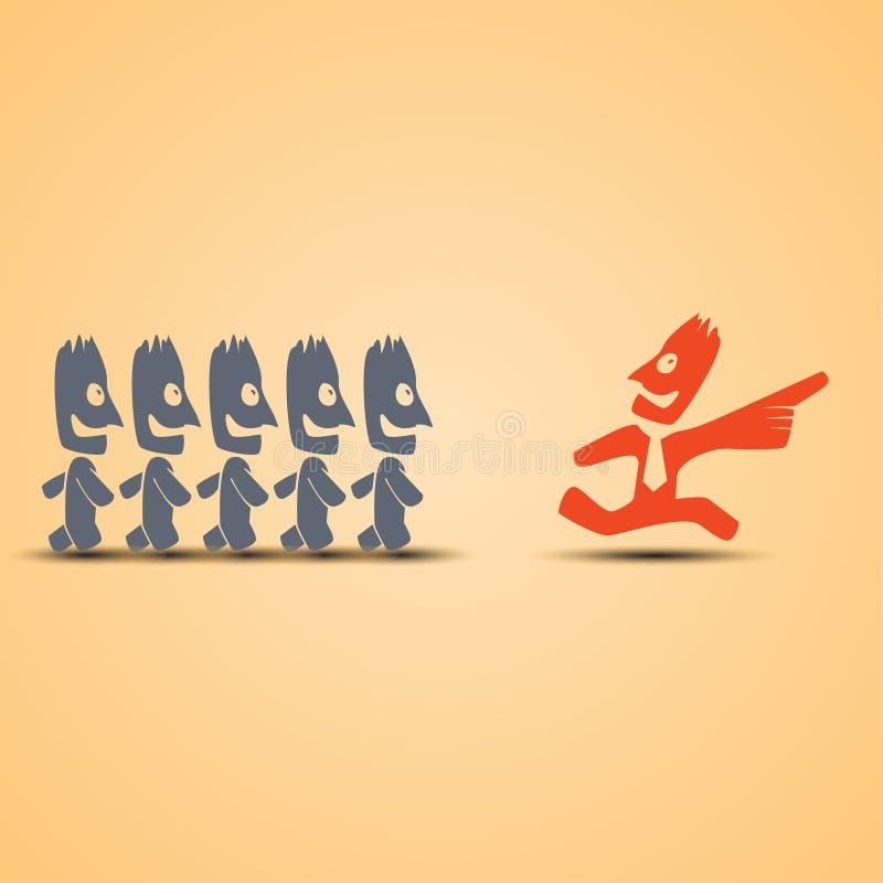 F-ledarskap i affär royaltyfri illustrationer