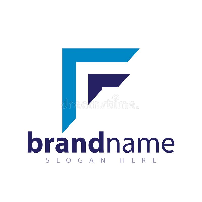 F Letter Arrow Abstract Logo stock template royalty free illustration