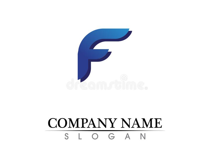 F letter logo and symbols template vector icons. F letter logo symbols template vector icons royalty free illustration