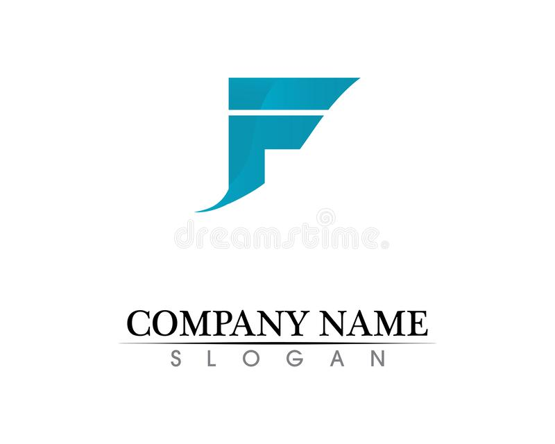F letter logo and symbols template vector icons. F letter logo symbols template vector icons vector illustration