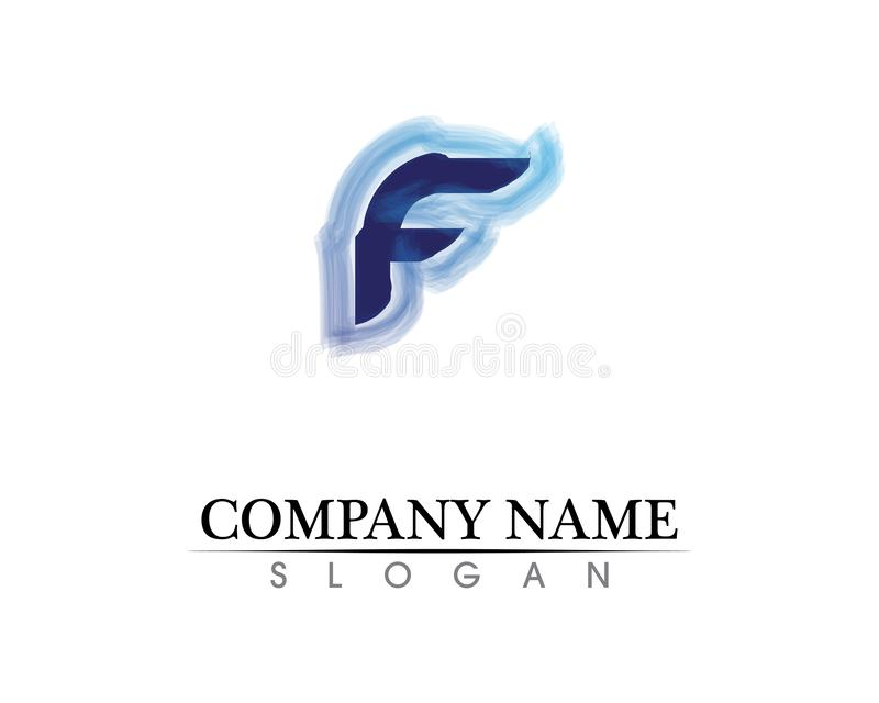 F letter logo and symbols template vector icons. F letter logo symbols template vector icons stock illustration