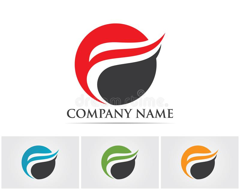 F letter logo and symbols template vector icons.. royalty free illustration