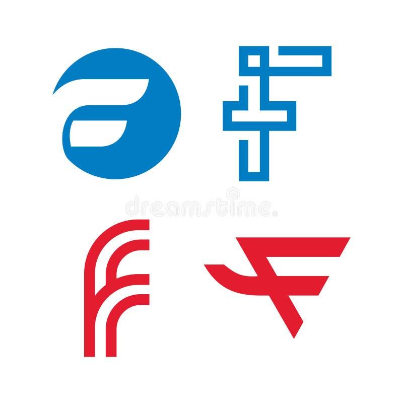 F letter logo Template vector illustration